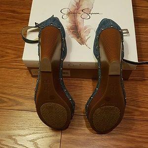 24dabc9c5ec Jessica Simpson Shoes - Jessica Simpson Jaylow Blue Denim Wedge